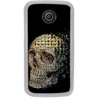 ifasho Modern  Design animated skeleton Back Case Cover for Moto E2