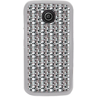 ifasho Animation Clourful Circle Pattern Back Case Cover for Moto E