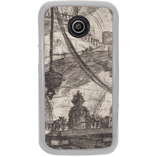 ifasho Modern art painting of city Building  Back Case Cover for Moto E2