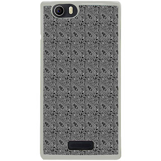 ifasho Animated Pattern design black and white flower in royal style Back Case Cover for Micromax Canvas Nitro2 E311