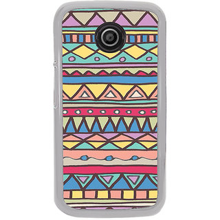 ifasho Animated Pattern colrful tribal design Back Case Cover for Moto E2