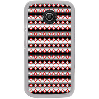 ifasho Animated Pattern of diagonal on black stripes  Back Case Cover for Moto E2