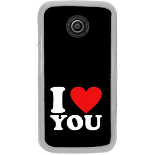 ifasho Love Quotes I love you Back Case Cover for Moto E
