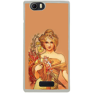 ifasho Young Girl with flower in hand Back Case Cover for Micromax Canvas Nitro2 E311