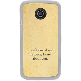 ifasho care quotes  Back Case Cover for Moto E