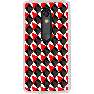 ifasho Colour Full triangle inside Square Pattern Back Case Cover for Moto G3