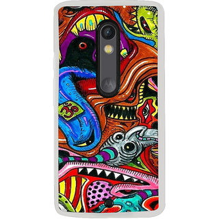 ifasho Girl with headphone Back Case Cover for Moto X Style