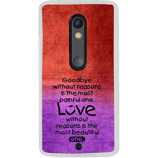 ifasho Love Quote Back Case Cover for Moto X Play