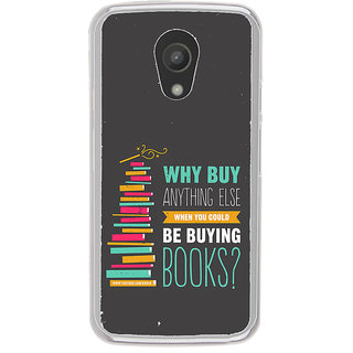ifasho Good messge on Books Back Case Cover for Moto G2