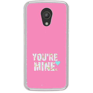 ifasho Love Quotes you are mine Back Case Cover for Moto G2