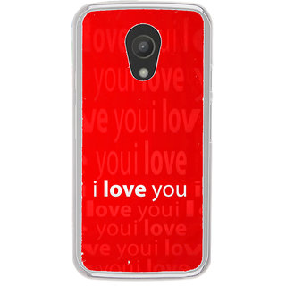 ifasho Love Quotes I love you Back Case Cover for Moto G2