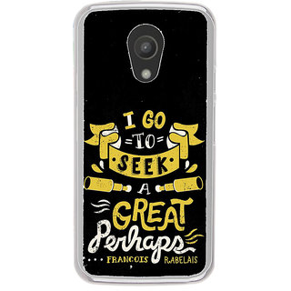 ifasho Life quote Back Case Cover for Moto G2