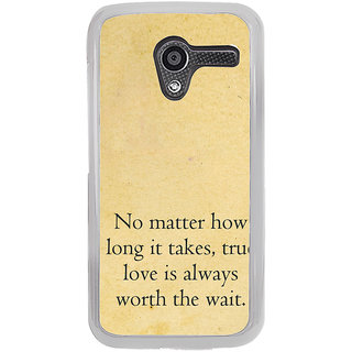 ifasho True love quotes Back Case Cover for Moto X