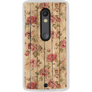 ifasho Modern Art Design painted flower on wood Back Case Cover for Moto G3