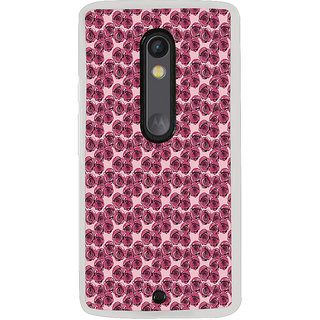 ifasho Animated Pattern rose flower with leaves Back Case Cover for Moto X Style