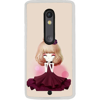 ifasho Girl  with Flower in Hair Back Case Cover for Moto X Play