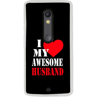 ifasho I love my husband quotes Back Case Cover for Moto X Play