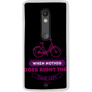 ifasho Right and Wrong Quote Back Case Cover for Moto X Play