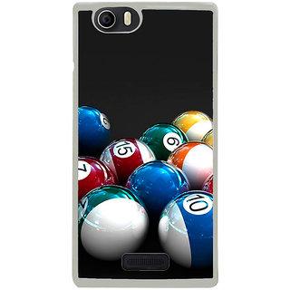 ifasho Design colourful biliards ball pattern Back Case Cover for Micromax Canvas Nitro2 E311