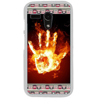 ifasho Modern Art Design  dont touch my phone with palm Back Case Cover for Moto G