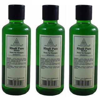 KHADI HERBAL NEEM SAT SHAMPOO GRAMODYOG  3 Shampoo