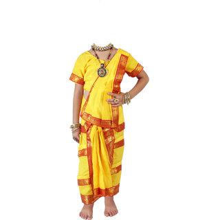 Bharatnatyam Costume (Yellow)