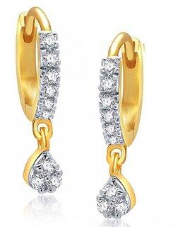 Bhagya Lakshmi Drop Gold Plated Bali Earrings for Women