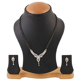 YouBella American Diamond Gold Plated Mangalsutra with Chain for Women-YBMS10001B