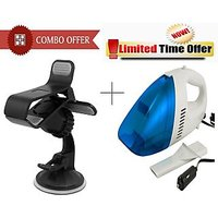 Special Combo Offer! Car Fly Mobile Holder + Car Vacuum Cleaner - CMWNCR-WS