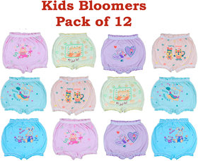 Combo of 12 Kids Cartoon Multicolor Bloomers-WS