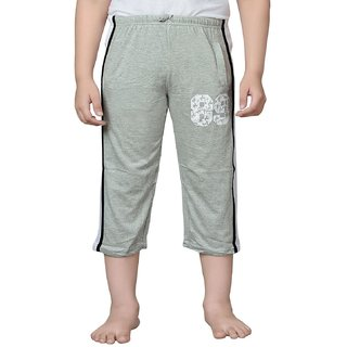 Punkster Cotton Grey Melange 3/4Th For Boys