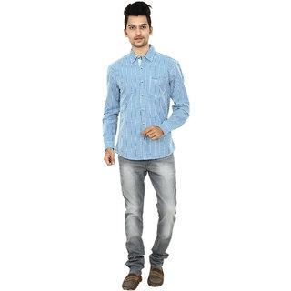 Wrangler Blue Cotton Casual Shirt