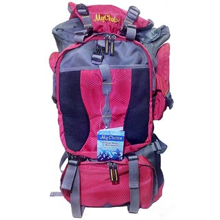 306105 Red Grey Tracking Backpack