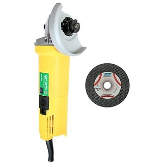Yiking 4 inch Angle Grinder and Black Steel Cutting Blade