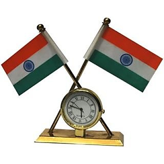 Double Sided India Flag for Car Dashboard