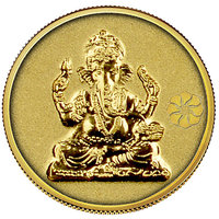 Diwali Special Offer Buy 140mg Ganesh Gold Coin Get Gold Foil Envelope Free By Parshwa Padmavati Gold