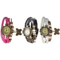 Jack Klein Round Dial Elegant Analog Wrist Watches For