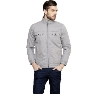 Cotton County Grey Long Sleeve Jacket for Men