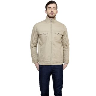 Cotton County Khakhi Long Sleeve Jacket for Men
