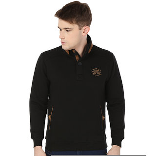 Freak'N Black High Neck Sweatshirts for Men