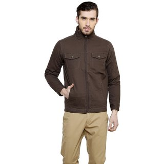 Cotton County Brown Long Sleeve Jacket for Men