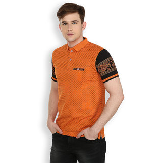 Freak'N Orange Polo Neck T-Shirt for Men