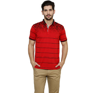 Freak'N Red Polo Neck T-Shirt for Men