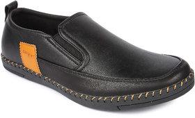 Spunk Men'S Black Slip On Casual Shoes