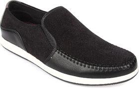Spunk Men'S Black Slip On Casual Shoe