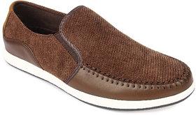 Spunk Men'S Brown Slip On Casual Shoes