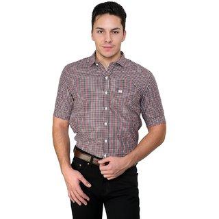 Cotton County Grey Checks Shirt for Men