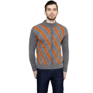 Freak'N Orange Round Neck Pullover for Men