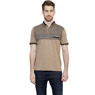 Freak'N Beige Polo Neck T-Shirt for Men