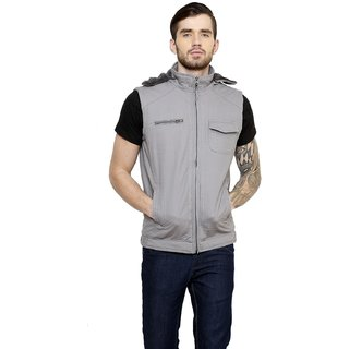 Cotton County Grey Sleeveless Jacket for Men